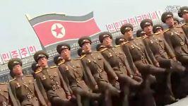 رژه جالب ارتش زنان کره شمالی رژه ارتش زنان کره شمالی