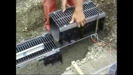 فیلم روش نصب کانال پیش ساخته هدایت آبهای سطحی