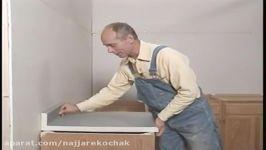 اموزش ساخت نصب کابینت چوبی اشپزخانه