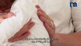 9.چگونه نوزاد تازه متولد شده را در بغل نگه داریم؟