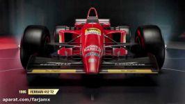 خودروهای تاریخیِ فورمول یکِ رونمایی شده در بازی F1 2017