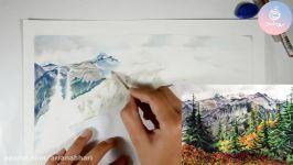 نقاشی مداد رنگی طبیعت بخشی دوره مداد رنگی۱