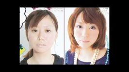 دختر ها قبل بعد  دختر های آسیایی قبل بعد آرایش