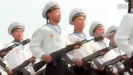 رژه جالب ارتش کره شمالی به همراه رژه خانوم ها