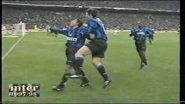 خلاصه بازی اینتر میلان در برابر میلان در فصل 97 98