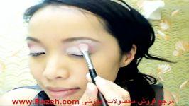 آموزش سایه چشم نصب موژه مصنوعی