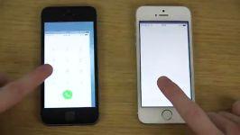iPhone 5S iOS 8 vs. iPhone 5S iOS 7  Opening Apps