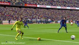 گیم پلی بازی پرسپولیس بارسلونا گل به خودی ماسچرانو