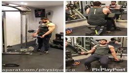 آموزش حرکت جلو بازو کابل ایستاده، جلو بازو لاری، جلو بازو دمبل روی میز بالاسینه