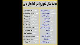 مقایسه معنای ماهای فارسی عربی