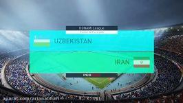 گیم پلی دیدار دوستانه تیم ملی ازبکستان ایران