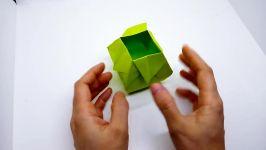 اوریگامی گلدان ناز  آموزش ساخت گلدان کاغذی  کاردستی