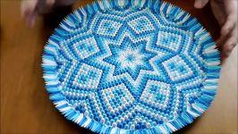 اوریگامی سه بعدی ظرف تزیینی  آموزش ساخت ظرف کاغذی  کاردستی