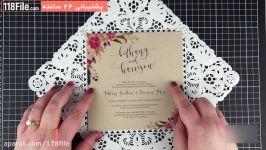 آموزش ایده های خلاقانه برای دعوتنامه مراسم عروسی
