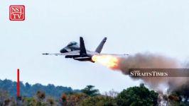 منفجر شدن موتور جنگنده F 18E هورنت در ارتفاع 50 پایی