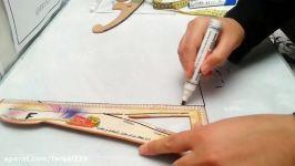 روش دوم طراحی یقه فرنچ کلیپ آخر آموزش یقه فرنچ