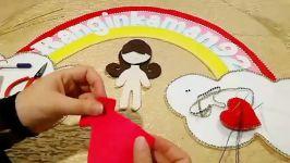 آموزش نمد دوزی ۸ عروسک روی حلقه توسط خانم محمدی دریافت الگو در کانال تلگرام سر
