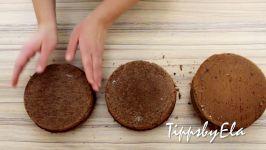 کیک کیک 3D کیک کیک دستورالعمل بدون پوشش
