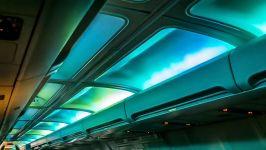 وایت نویز  نویز سفید محیط هواپیما در شب
