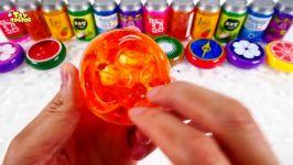 مخلوط کردن اسلایم های رنگی Slime Mixing Slime Clay Slime Syringer Toy