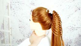 آموزش یک مدل بافت زیبا شیک دخترانه برای موهای بلند