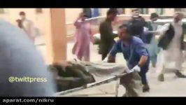 اولین فیلم حادثه انفجار در مسجد شهدا در منطقه «هسکه مینه» در جنوب ننگرهار