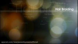 آموزش بافت مو  آموزش بافت مو سه تایی زیر  بافت مو  آموزش بافت فرانسوی