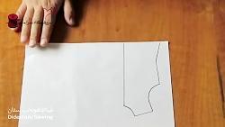 آموزش دوخت الگوی مانتو جلو باز