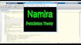 پروژه نظریه تراوش MATLAB