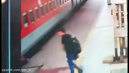 حرکت خطرناکی مرگ بیخ گوش جوان دانشجو در ایستگاه قطار گذشت