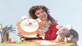 کاردستی حیوانات برای کودکان  شیر  آموزش کاردستی