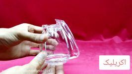 مقایسه ظروف اکریلیک ظروف بلوری شیشهای