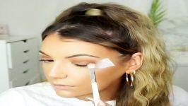 آموزش آرایش صورت میکاپ  ترفندهای آرایش صورت میکاپ چشم سایه لب رژلب