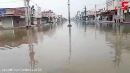 هوای سرد اهوازی هایی تمام زندگیشان در فاضلاب آبهای سطحی فرو رفته است