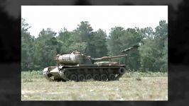 برخورد موشک ضد زره تانک های اسقاطی صحنه آهسته