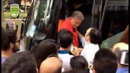 کارلوس کیروش اجازه ورود هواداران تیم ملی به اتوبوس