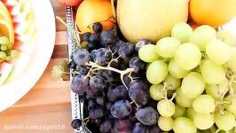میوه ارایی هندوانه درست کردن ظرف میوه