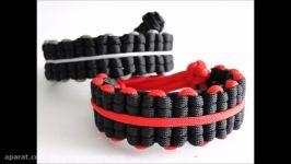 آموزش ساخت دستبند نخی  پاراکورد دست ساز  صنایع دستی  کاردستی  طرح قرمز مشکی