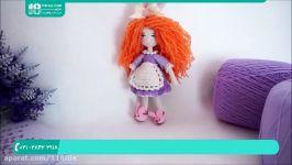 آموزش عروسک بافی  عروسک بافتنی قلاب  بافت عروسک قلاب قلاب بافی کفش