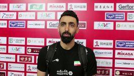 گفت وگو پوریا فیاضی، پس پیروزی تیم ملی والیبال ایران برابر چین