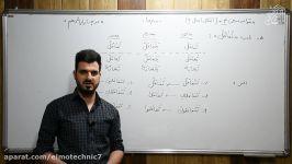 بخش اول قواعد درس ۴  عربی دهم هنرستان  دکتر زعیم زاده  هنرستان علم تکنیک
