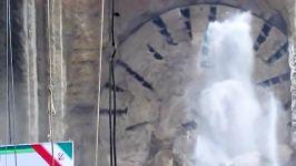 خروج دستگاه حفاری TBM ایستگاه سعدی قطار شهری مشهد