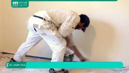 آموزش رنگ آمیزی ساختمان  رنگ آمیزی دیوار  آموزش رنگ آمیزی غلطک