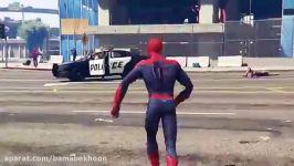 نبرد مرد عنکبوتی شگفت انگیز مرد عنکبوتی CIVIL WAR مرد عنکبوتی 2002 در GTA V