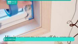 رنگ امیزی خانه  رنگ آمیزی ساختمان رنگ آمیزی دکور چوبی 28423118 021