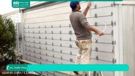 نقاشی ساختمان مدرن  نقاشی سقف ساختمان رنگ آمیزی دیوار پیستوله 02128423118