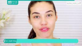 آرایش کامل صورت عروس جدید  میکاپ صورت آموزش سایه چشم آرایش صورت
