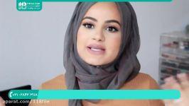 آموزش بستن شال روسری  مدل بستن روسری چهارگوش شال حجاب