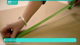 آموزش رنگ آمیزی نقاشی ساختمان  رنگ آمیزی سقف دیوار طرح شش ضلعی روی دیوار