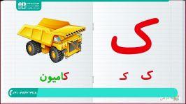 آموزش حروف الفبا  حروف انگلیسی به کودکان  الفبای فارسی حروف فارسی مثال